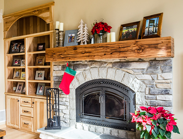 Oglewood - Dan's Built-in Bookcase and Mantel